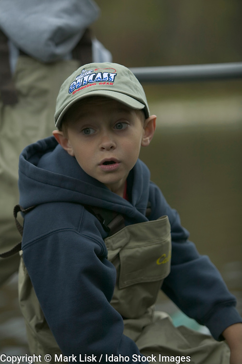 (MR) Portrait of a young fly fisherman.
