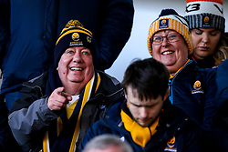 Worcester Warriors fans at Leicester Tigers - Mandatory by-line: Robbie Stephenson/JMP - 29/02/2020 - RUGBY - Welford Road Stadium - Leicester, England - Leicester Tigers v Worcester Warriors - Gallagher Premiership Rugby
