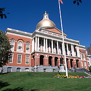 Massachusetts State House on Beacon Hill, Boston, MA