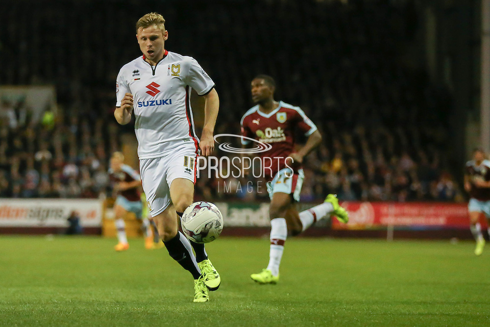 Milton Keynes Dons forward Simon Church during the Sky Bet Championship match between Burnley and Milton Keynes Dons at Turf Moor, Burnley, England on 15 September 2015. Photo by Simon Davies.