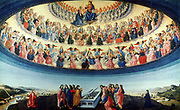 The Assumption of the Virgin'. Attributed to Francesco Botticini (1446-1497) Italian artist.