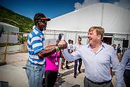 Koning Willem-Alexander en Koningin Máxima bezoeken de eilanden , Sint Maarten