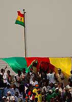 Photo: Steve Bond/Richard Lane Photography.<br /> Egypt v Cameroun. Africa Cup of Nations. 22/01/2008. Cameroon colours on show