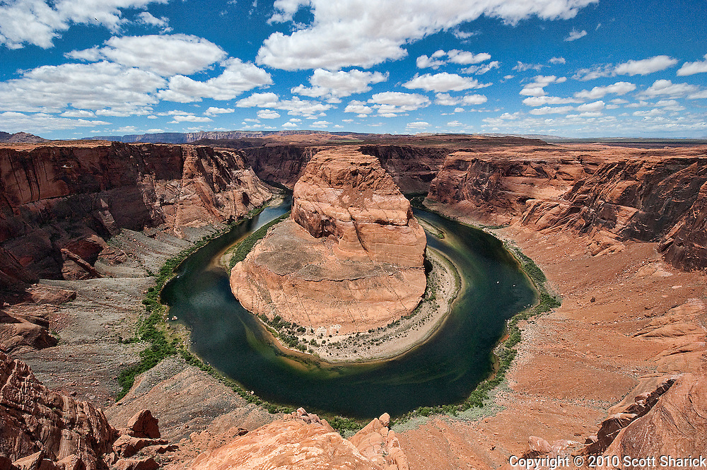 The Colorado River bends around in the shape of a horseshoe just outside of Page Arizona. Missoula Photographer