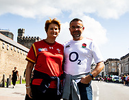 Fans enjoying the pre match atmosphere<br /> <br /> Photographer Simon King/Replay Images<br /> <br /> Friendly - Wales v England - Saturday 17th August 2019 - Principality Stadium - Cardiff<br /> <br /> World Copyright © Replay Images . All rights reserved. info@replayimages.co.uk - http://replayimages.co.uk