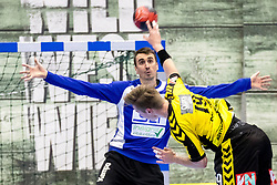 27.04.2018, BSFZ Suedstadt, Maria Enzersdorf, AUT, HLA, SG INSIGNIS Handball WESTWIEN vs Bregenz Handball, Viertelfinale, 1. Runde, im Bild Sandro Uvodic (SG INSIGNIS Handball WESTWIEN) // during Handball League Austria, quarterfinal, 1 st round match between SG INSIGNIS Handball WESTWIEN and Bregenz Handball at the BSFZ Suedstadt, Maria Enzersdorf, Austria on 2018/04/27, EXPA Pictures © 2018, PhotoCredit: EXPA/ Sebastian Pucher