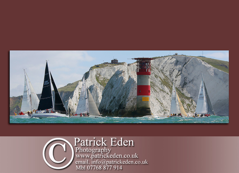 The Needles, Round the Island race, 2016, Cowes, isle of Wight, UK,