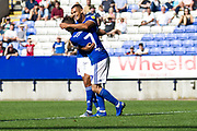 Ipswich Town forward Kayden Jackson celebrate his goal with team-mates during the EFL Sky Bet League 1 match between Bolton Wanderers and Ipswich Town at the University of  Bolton Stadium, Bolton, England on 24 August 2019.