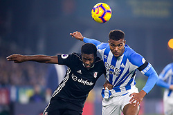 Ryan Sessegnon of Fulham challenges Steve Mounie of Huddersfield Town  - Mandatory by-line: Robbie Stephenson/JMP - 05/11/2018 - FOOTBALL - John Smith's Stadium - Huddersfield, England - Huddersfield Town v Fulham - Premier League