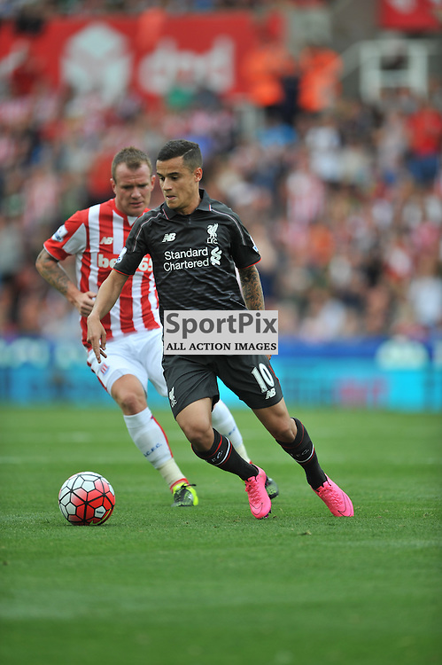 Liverpools Phillipe Coutino, Stoke City v Liverpool Premiership Brittania Stadium, Sunday 9th August 2015