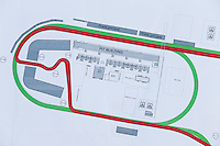 Circuit plan details.<br /> Autodromo Hermanos Rodriguez Circuit Visit, Mexico City, Mexico. Thursday 22nd January 2015.