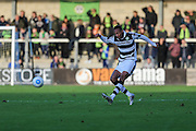 Forest Green Rovers Ethan Pinnock(16) passes the ball forward during the Vanarama National League match between Torquay United and Forest Green Rovers at Plainmoor, Torquay, England on 26 December 2016. Photo by Shane Healey.