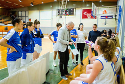 Ernest Novak, head coach of ZKK Triglav Kranj during basketball match between ZKK Triglav Kranj and ZKD Maribor in Round #1 of 1. Slovenian Woman basketball league, on February 20, 2018 in ŠD Planina, Kranj, Slovenia. Photo by Ziga Zupan / Sportida