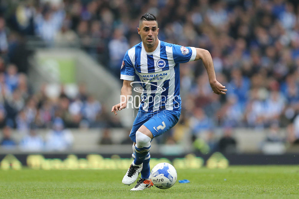 Brighton central midfielder, Beram Kayal (7) during the Sky Bet Championship match between Brighton and Hove Albion and Derby County at the American Express Community Stadium, Brighton and Hove, England on 2 May 2016.