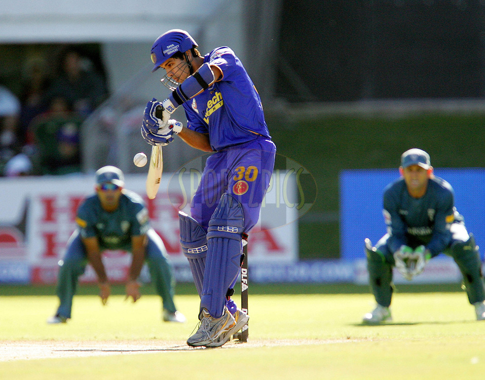 PORT ELIZABETH, SOUTH AFRICA - 02 May 2009. Naman Ohja during the  IPL Season 2 match between the Deccan Chargers and the Rajatshan Royals held at St Georges Park in Port Elizabeth , South Africa..