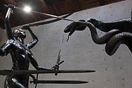 "Venezia - Punta della Dogana . La mostra di Damien Hirst: ""Tresaures from the Wreck of Unbelievable.  ""Hydra and Kali""."