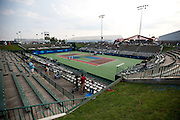 A general view of Mediacom Stadium during a match between the Washington Kastles vs. Springfield Lasers on July 11, 2012 in Springfield, Missouri. (David Welker/www.Turfimages.com).