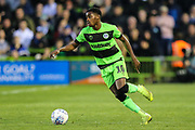 Forest Green Rovers Reece Brown(10) on the ball during the EFL Sky Bet League 2 second leg Play Off match between Forest Green Rovers and Tranmere Rovers at the New Lawn, Forest Green, United Kingdom on 13 May 2019.