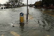 Flooded homes and along the Chertsey Bridge Road. <br />Flood waters remain high after last weeks flooding across the Thames valley. UK