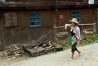 Chine. Province du Guizhou. Village Dong de Yingtan. Femme Dong. // China. Guizhou province. Dong village of Yingtan. Dong woman.