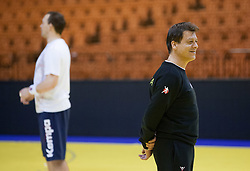 Bojan Cotar, assistant coach of Slovenia during practice session of Slovenia National Handball team during Main Round of 10th EHF European Handball Championship Serbia 2012, on January 21, 2012 in Spens Sports Center, Novi Sad, Serbia. (Photo By Vid Ponikvar / Sportida.com)