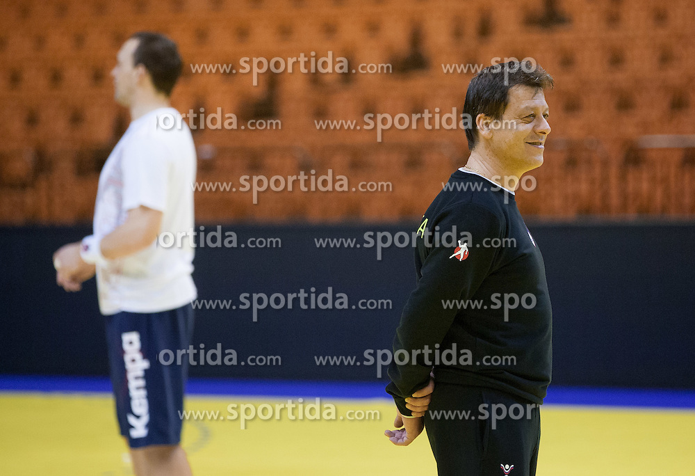Bojan Cotar, assistant coach of Slovenia during practice session of Slovenia National Handball team during Main Round of 10th EHF European Handball Championship Serbia 2012, on January 21, 2012 in Spens Sports Center, Novi Sad, Serbia. (Photo By Vid Ponikvar / Sportida.com)