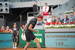 May 13, 2018 - Madrid, Madrid, Spain - ALEXANDER ZVEREV celebrates winning the first set in a match against DOMINIC THIEM during the final of Mutua Madrid Open 2018 - ATP in Madrid. (Credit Image: © Patricia Rodrigues via ZUMA Wire)