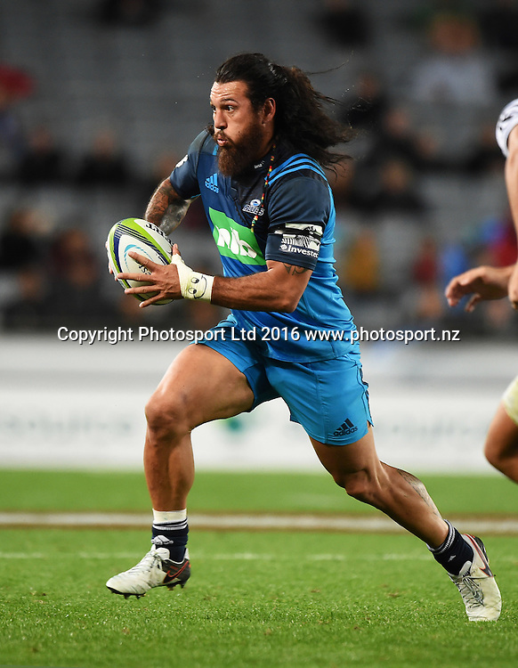 Rene Ranger. Blues v Sharks Super Rugby match at Eden Park in Auckland, New Zealand. Saturday 16 April 2016. Copyright Photo: Andrew Cornaga / www.Photosport.nz