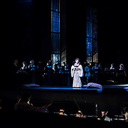 September 23, 2015 - New York, NY : Sondra Radvanovsky, center, performs as Anna Bolena in a dress rehearsal for Gaetano Donizetti's 'Anne Bolena' at the Metropolitan Opera at Lincoln Center on Wednesday. CREDIT: Karsten Moran for The New York Times