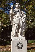 Statues of Spanish monarchs, Plaza de Oriente, Madrid, Spain, Alonso V King of Leon