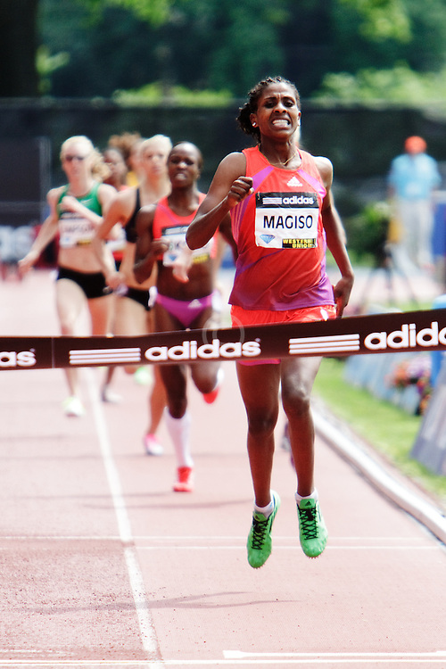 Samsung Diamond League adidas Grand Prix track & field; women's 800 meters, Fantu Magiso, ETH, winner (her 20th birthday), finish