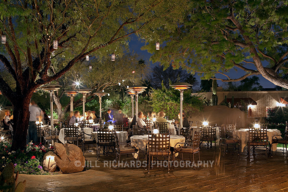 Dining on the patio at Lon's Restaurant at the Hermosa Inn in Paradise Valley, AZ offers an up-close and personal view of Camelback mountain. Lon's is an award-winning Restaurant in Greater Phoenix.