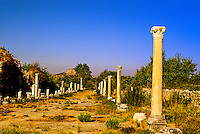 Harbor Street, Ephesus (Efes) archaeological site, Turkey
