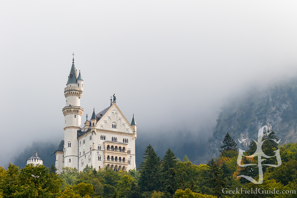 Neuschwanstein Castle, the basis of Disney's Cinderella castle.