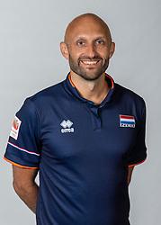 10-05-2018 NED: Team shoot Dutch volleyball team women, Arnhem<br /> Coach Jamie Morrison