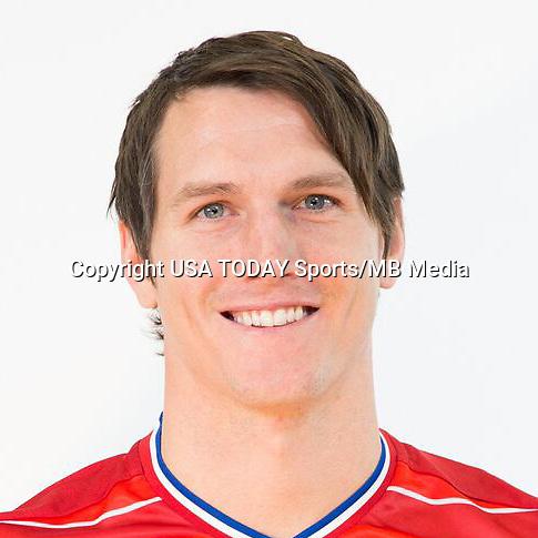 Feb 25, 2016; USA; FC Dallas player Zach Loyd poses for a photo. Mandatory Credit: USA TODAY Sports