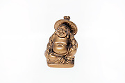 Buddha figurine on white background