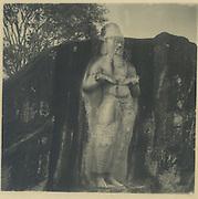 Statue of Parakrama Bahu at Polonnaruwa.<br /> Chloe de Soysa Collection
