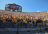 September 4 2010: Fans cheer during the first quarter of the NCAA football game between the Eastern Illinois Panthers and the Iowa Hawkeyes at Kinnick Stadium in Iowa City, Iowa on Saturday September 4, 2010. Iowa defeated Eastern Illinois 37-7.