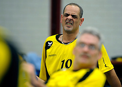 08-01-2011 VOLLEYBAL: ED ROOSEN ZITVOLLEYBALTOERNOOI 2011: LEERSUM<br /> Voller volleyball club organizes for the ninth consecutive time the Ed Roosen sitting volleyball tournament / Micro Electro - Apollo<br /> ©2011-WWW.FOTOHOOGENDOORN.NL