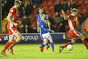 Matty Done shoots during the EFL Sky Bet League 1 match between Walsall and Rochdale at the Banks's Stadium, Walsall, England on 6 March 2018. Picture by Daniel Youngs.