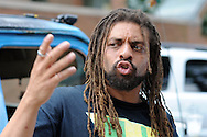 DOYLESTOWN, PA - JULY 08:  Edward Forchion of Pemberton, New Jersey looks speaks at a protest for a Bucks County defendant charged with marijuana possession July 8, 2014 in Doylestown, Pennsylvania.  (Photo by William Thomas Cain/Cain Images)