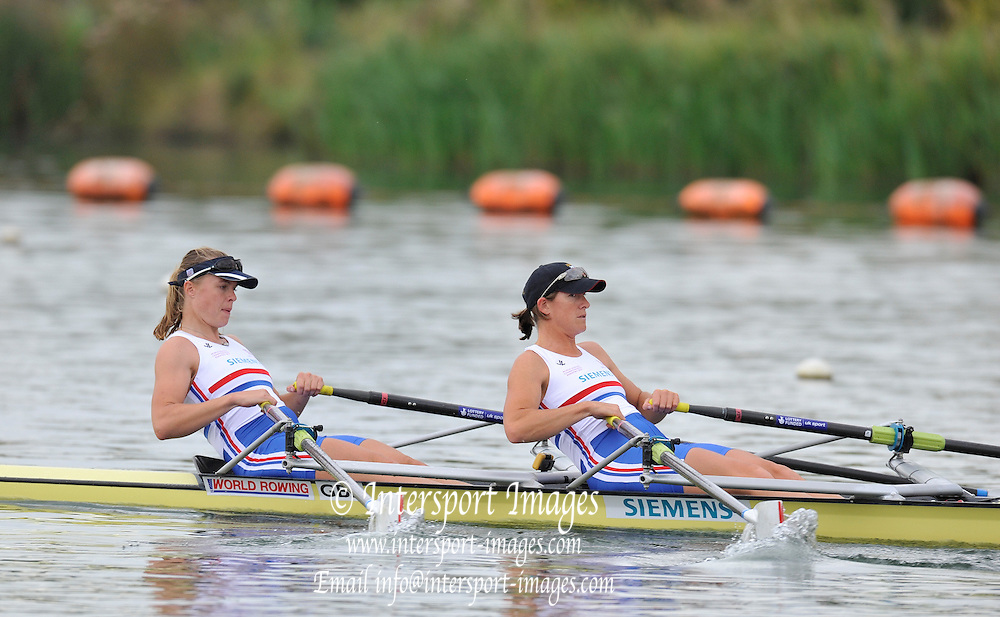 Caversham. United Kingdom;  GBR W2X. Bow Anna WATKINS [BEBINGTON] and Katherine GRAINGER. Team GBR Rowing, 2010 World Championship Team Announcement at the GB rowing Training Base. Nr Reading Berks on Tuesday,  21/09/2010[Mandatory Credit Peter Spurrier/ Intersport Images],