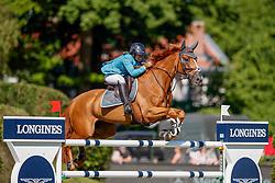 Goldstein Danielle, ISR, Lizzimary<br /> Deutsches Spring- und Dressur Derby Hamburg 2017<br /> © Hippo Foto - Dirk Caremans<br /> 27-05-2017