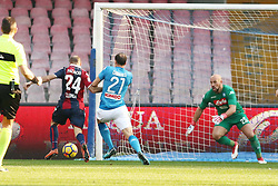 January 28, 2018 - Naples, Italy - Player of Bologna FC Rodrigo Palacio scores the 0-1 goal during the serie A match between SSC Napoli and Bologna FC at Stadio San Paolo on January 28, 2018 in Naples, Italy. (Credit Image: © Paolo Manzo/NurPhoto via ZUMA Press)