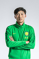 **EXCLUSIVE**Portrait of Chinese soccer player Jin Pengxiang of Beijing Sinobo Guoan F.C. for the 2018 Chinese Football Association Super League, in Shanghai, China, 22 February 2018.