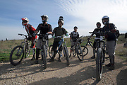 Mountain Bikers at a dirt track event