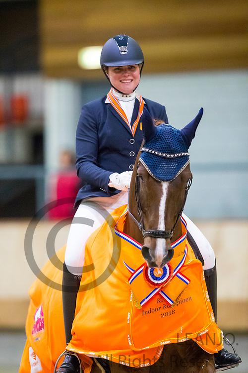 Mara de Vries - Habibi DVB<br /> KNHS Indoorkampioenschappen 2018<br /> © DigiShots