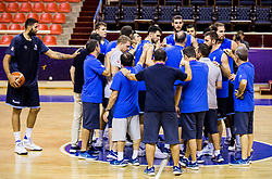 Players of Greece  during practice session of Greek National team 1 day prior to the basketball match between National Teams of Lithuania and Greece in Round of 16 of the FIBA EuroBasket 2017, at Ahmet Cömert Sports Hall in Istanbul, Turkey on September 8, 2017. Photo by Vid Ponikvar / Sportida