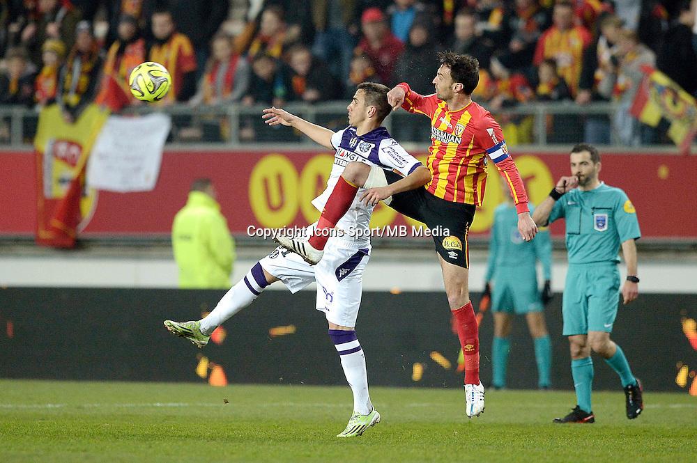 Aleksander Pesic / Jerome Le Moigne - 14.03.2015 - Lens / Toulouse - 29eme journee de Ligue 1<br /> Photo : Andre Ferreira / Icon Sport